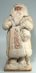 Russian New Year. Father Frost Figurine - Cotton - ca. 1950s