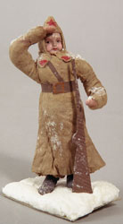 Russian New Year. Red Army Boy, Cotton, ca. 1936-40