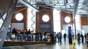 Crowds at the Jewish Museum. For more about the museum, click the picture.
