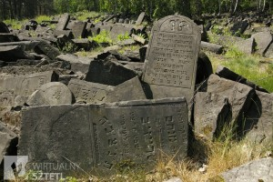 A pile of headstones at the Bródno cemetery